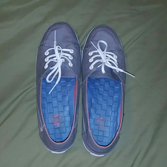 hot new products reasonable price first look Womens vans Palisades SF Grey and coral only worn maybe 4 ...