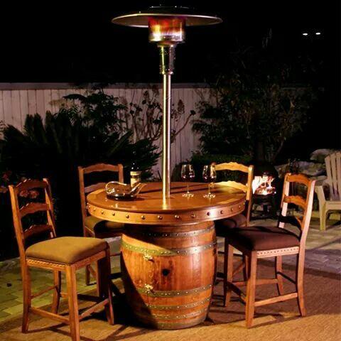 Bar Terraza Muebles De Barriles De Vino Mesa De Barril De Vino Muebles De Barril