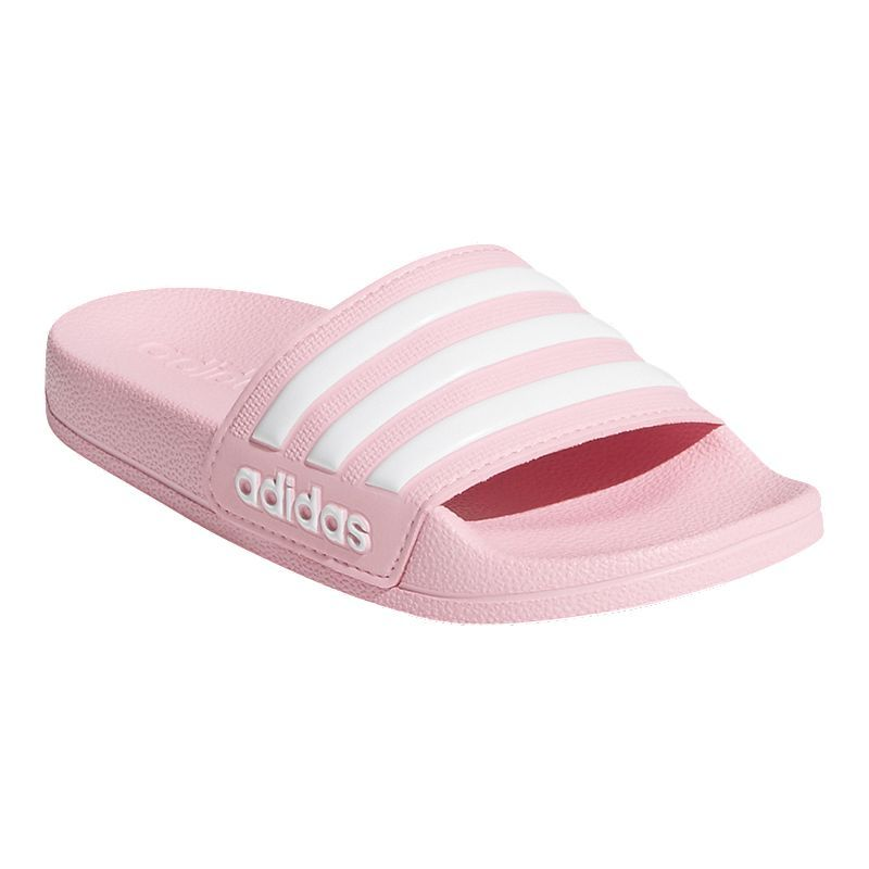 80cf0406e0a4 adidas Girls  Adilette Shower Slide Sandals - Pink in 2019
