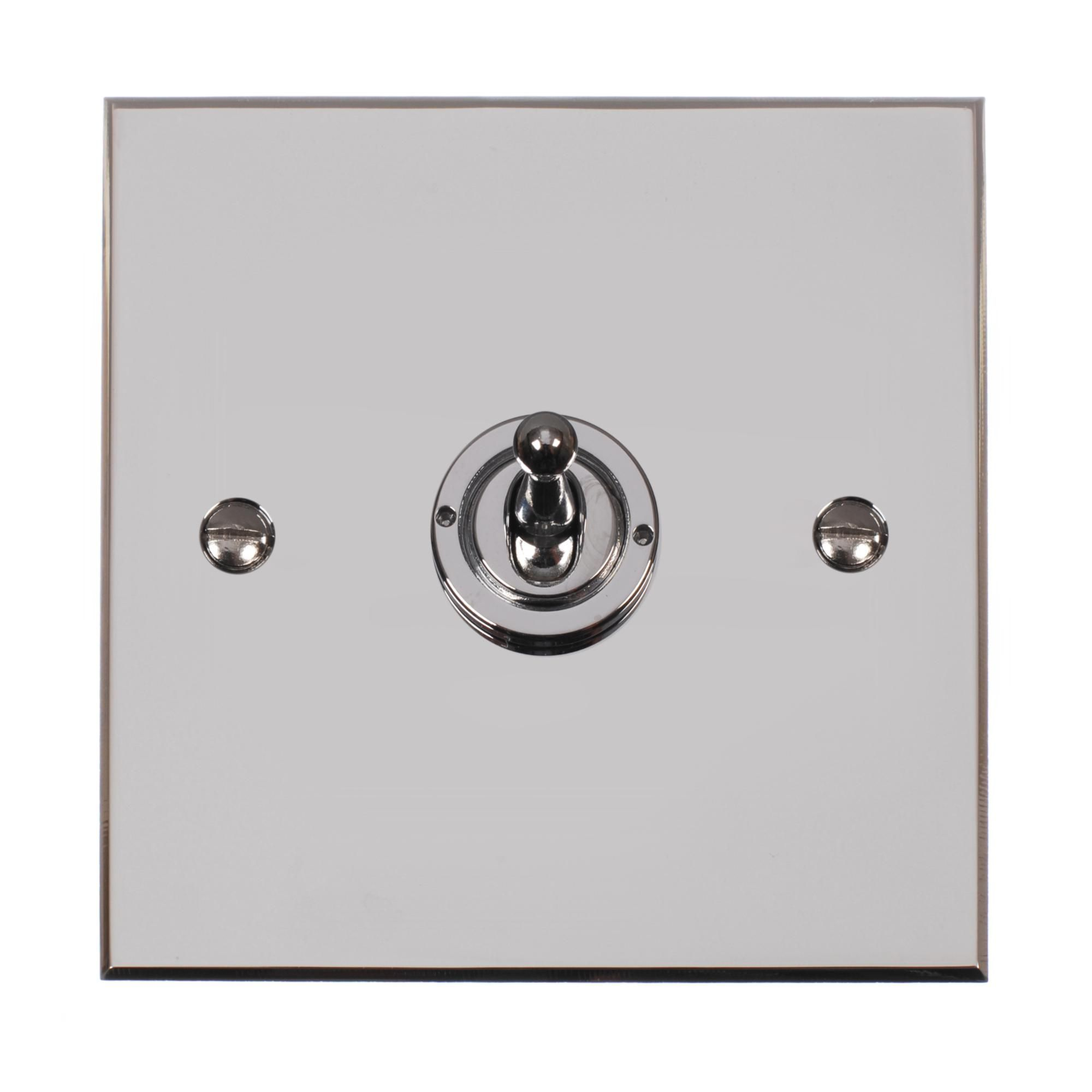 1 Gang Dolly Switch | Chrome | Bevelled Plate | Jim Lawrence | DIY ...
