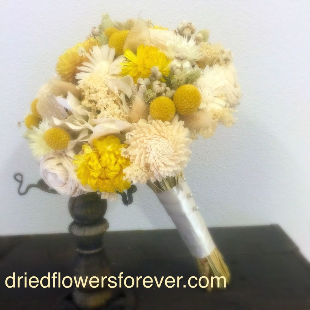Preserved flower wedding bouquet sunny collection wedding preserved flower wedding bouquet sunny collection keepsake izmirmasajfo