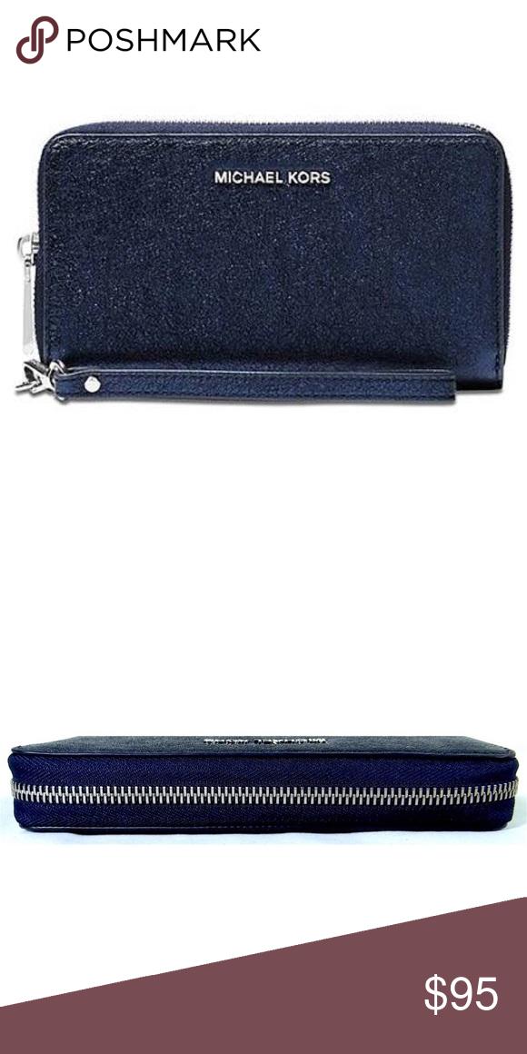 351eaa37475d93 Michael Kors Phone Case Wristlet Wallet Clutch NWT Michael Kors Large Flat Multi  Function Phone Case