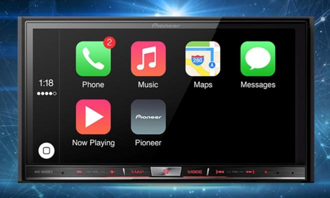 Pioneer demos Apple CarPlay solutions for older cars set