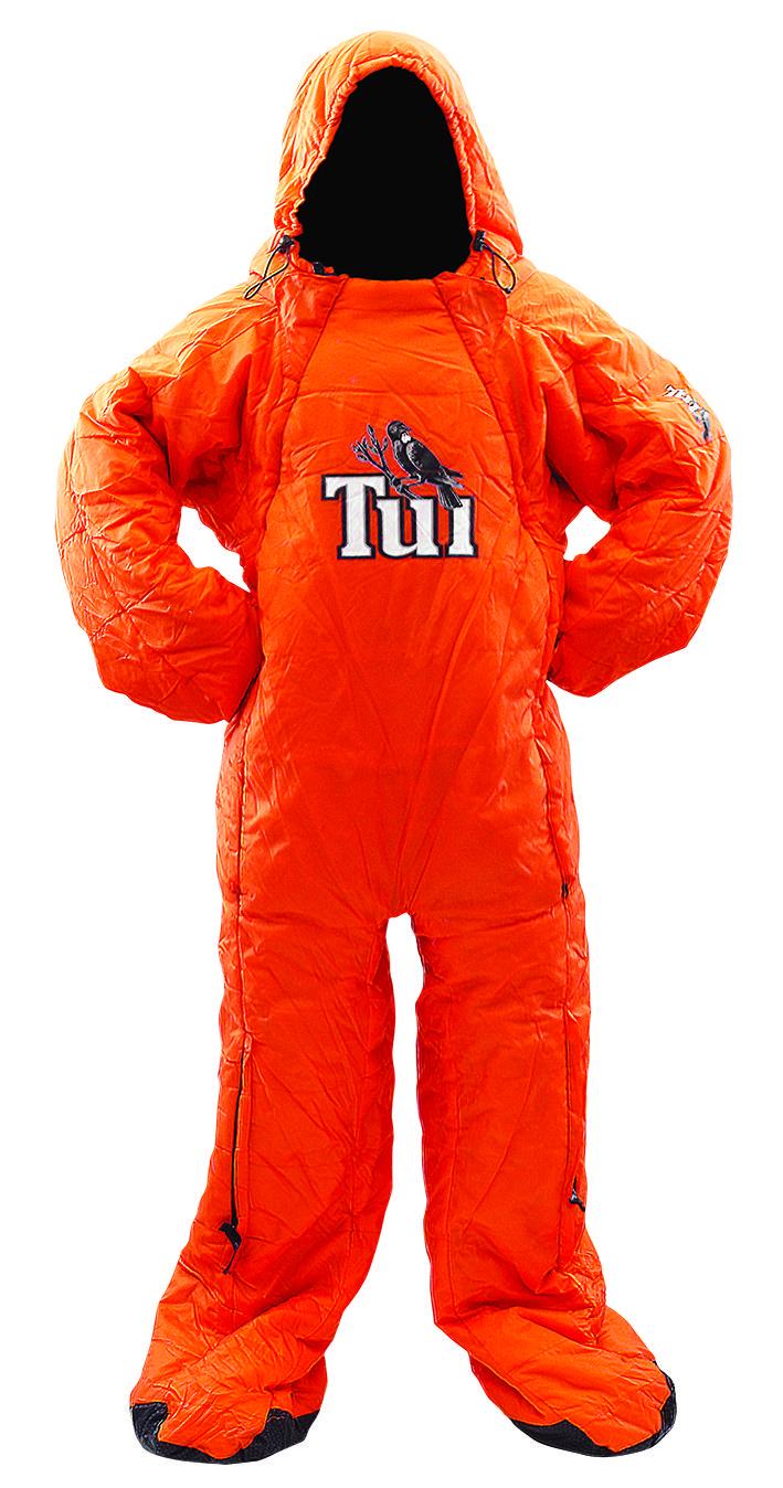 Tui Sleeping Bag Suit. Custom made. www.sigpromo.co.nz | Fun ...