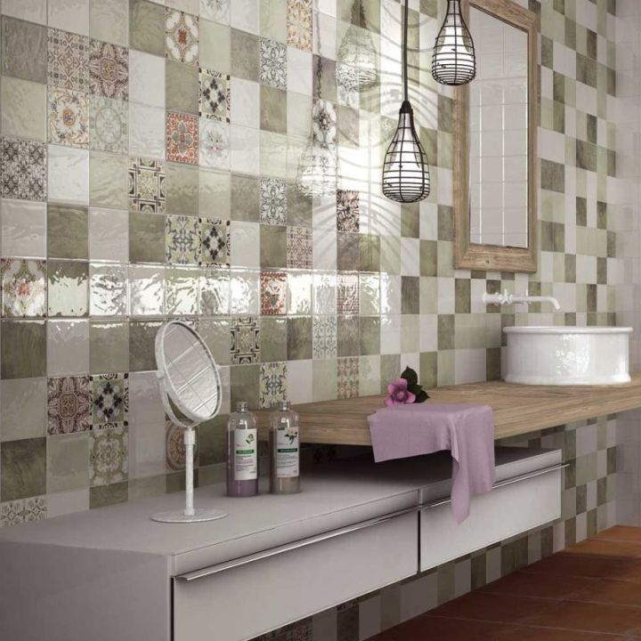 These Lovely Green Wall Tiles Have A Random Pattern And Are Mesmerizing Kitchen Wall Tile 2018