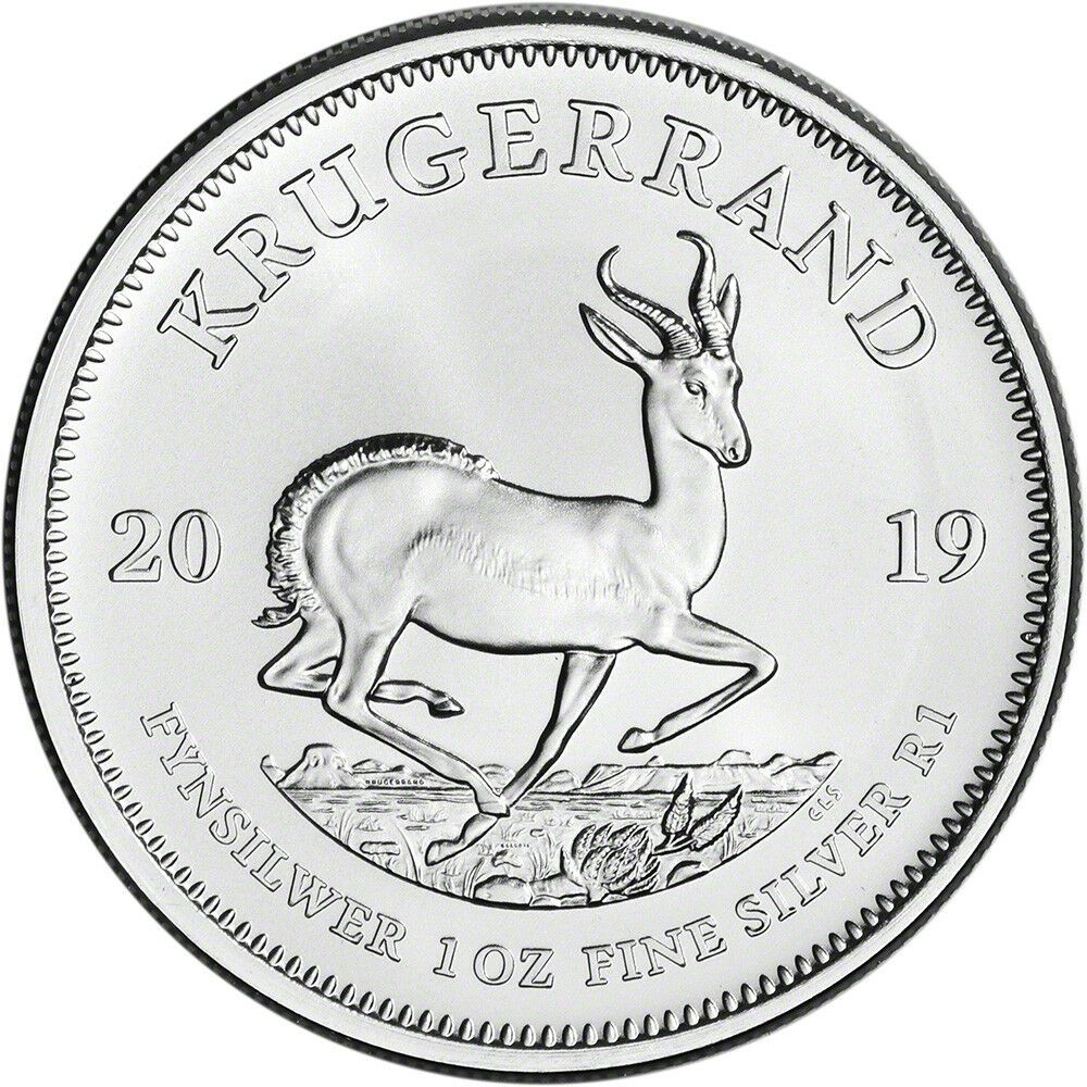 Details About 2019 South Africa Silver Krugerrand 1 Oz 1 Rand Bu Silver Krugerrand Silver Coins Africa