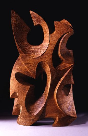 "David Groth ~ ""Harken"" ~ Wood Sculpture in Collection 2006 (…"