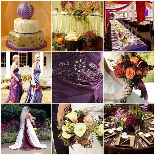 Orange Purple Fall Palette Fall Weddings Fall Wedding