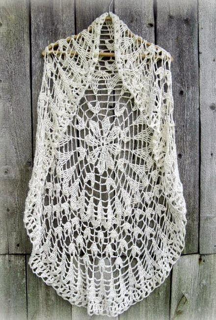 Crochet Sweater Crochet Circle Vest Chic Vest For Women Lcc