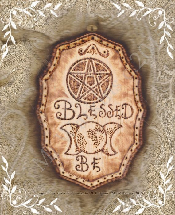 Blessed Be Witch Pagan Wiccan Wicca Sign Plaque Wall Art in 2018 ...