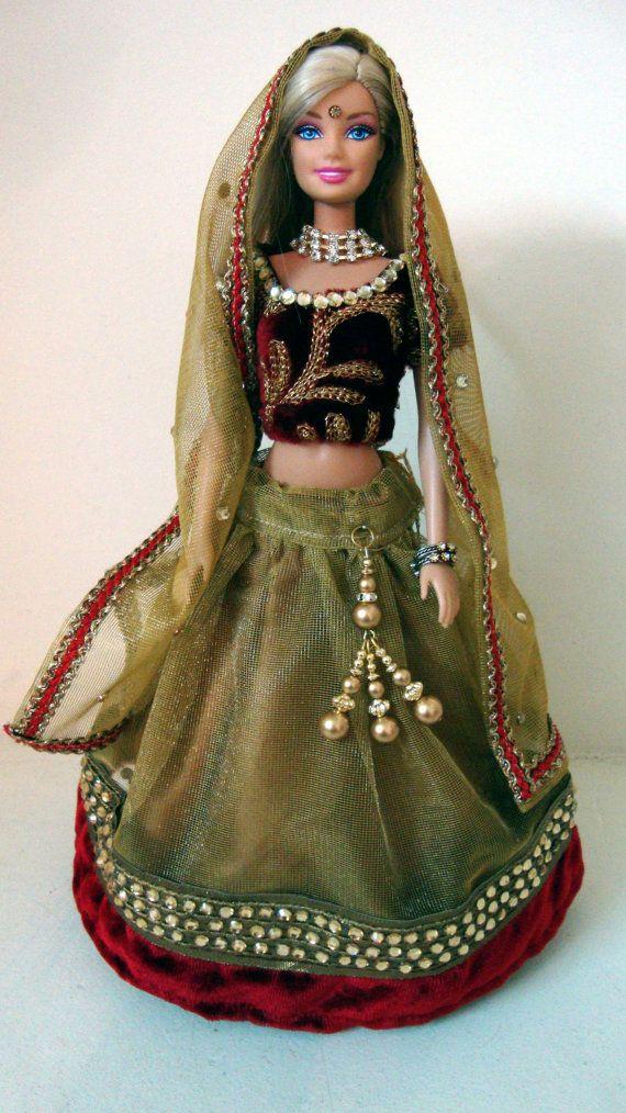 Indian BArbie Doll in Lehenga | Indian Barbie n Kelly ...