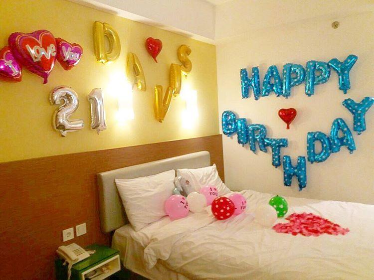Dekorasi ulang tahun pacar dekorasi ultah ulang tahun for Dekor kamar hotel ultah