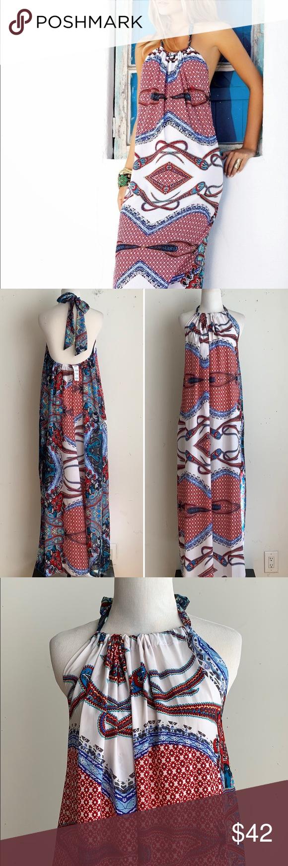Boho Halter Maxi Dress
