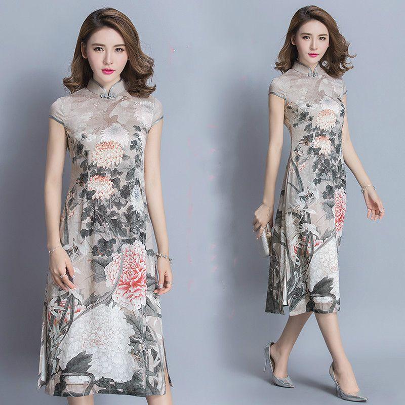 e95e15412 Retro China Wind National Short Cheongsam Chiffon Dress //Price: $48.58 &  FREE Shipping // #coupon