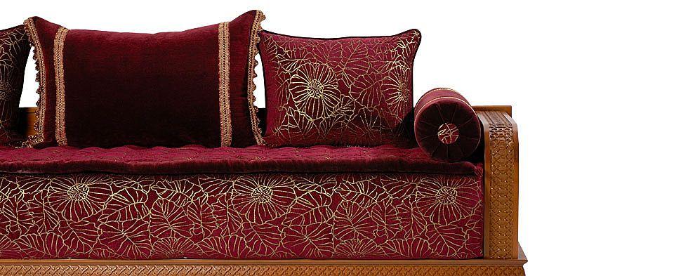 salon marocain en couleur grouna Home Pinterest Decoration - deco salon rouge et blanc