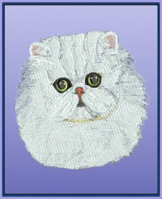 Balboa Embroidery Designs Persian Cat Embroidery Pinterest