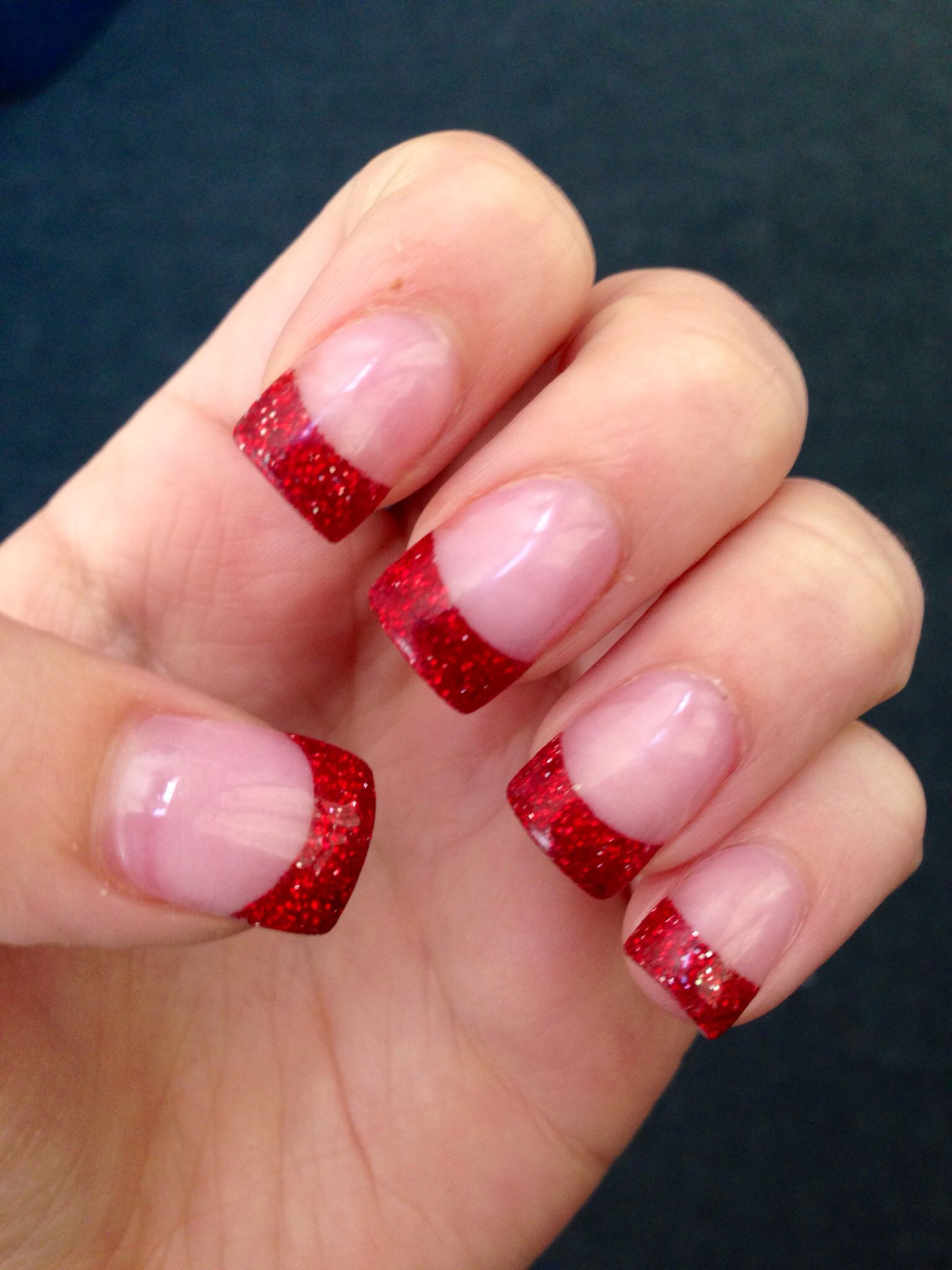 Acrylic holiday nails | Hair & Make-Up | Pinterest | Makeup and Manicure