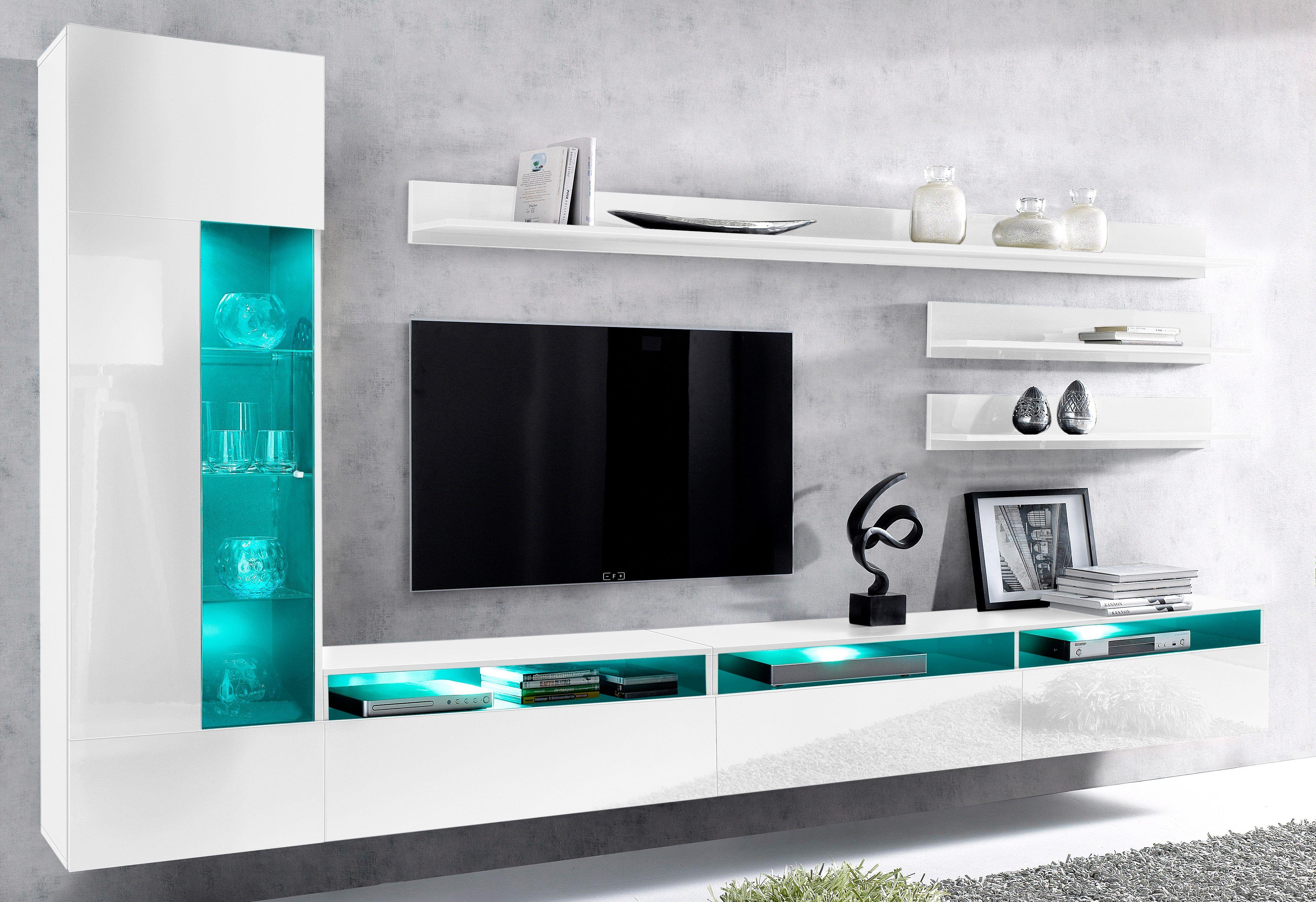 Wohnzimmer Hochglanz ~ Wohnwand weiß hochglanz fsc® zertifiziert yourhome jetzt