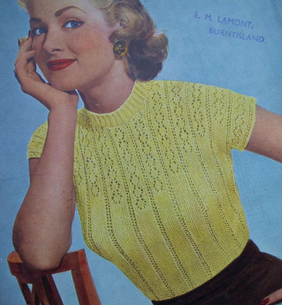 1950s Womens Sweater Sleeveless Top Lacy Ladies Jumper Strutts Uk