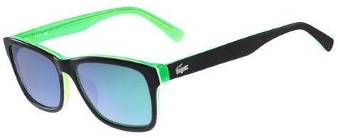 3e7b1c57099e Lacoste Men s Classic Wayfarer Sunglasses - L683S (Black Green ...