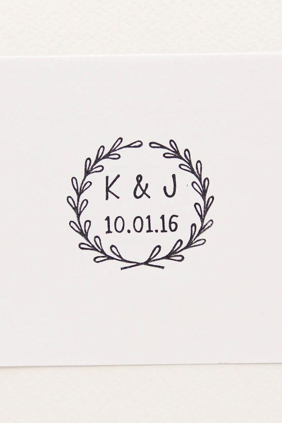 Wedding Rubber Stamp Initials Stamp Custom Rubber Stamps Wedding