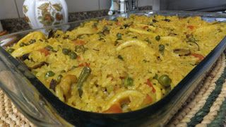 Piglet's Spanish Rice Recipe   Receitas da Piglet: Arroz de Lulas à Espanhola
