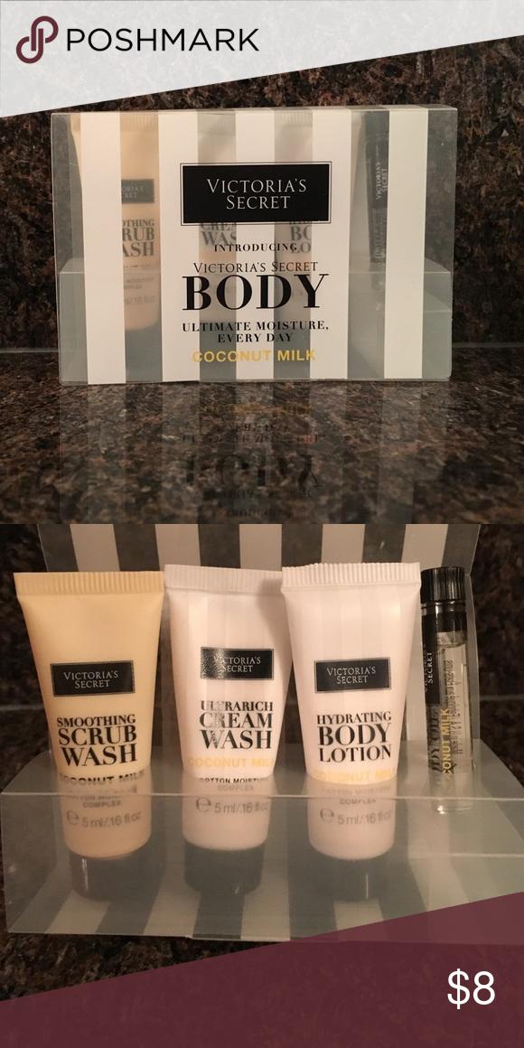 25efa19a00035 Victoria's Secret body coconut milk sample set Comes with a scrub ...