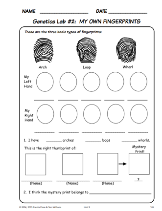 This sample life science curriculum has a nice activity on ...