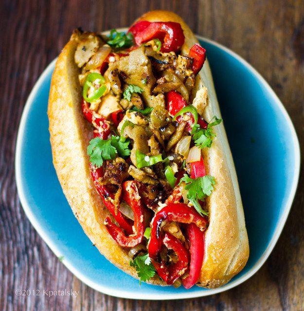 Vegitarian Dinner Ideas: Vegan Philly Cheese Sandwich