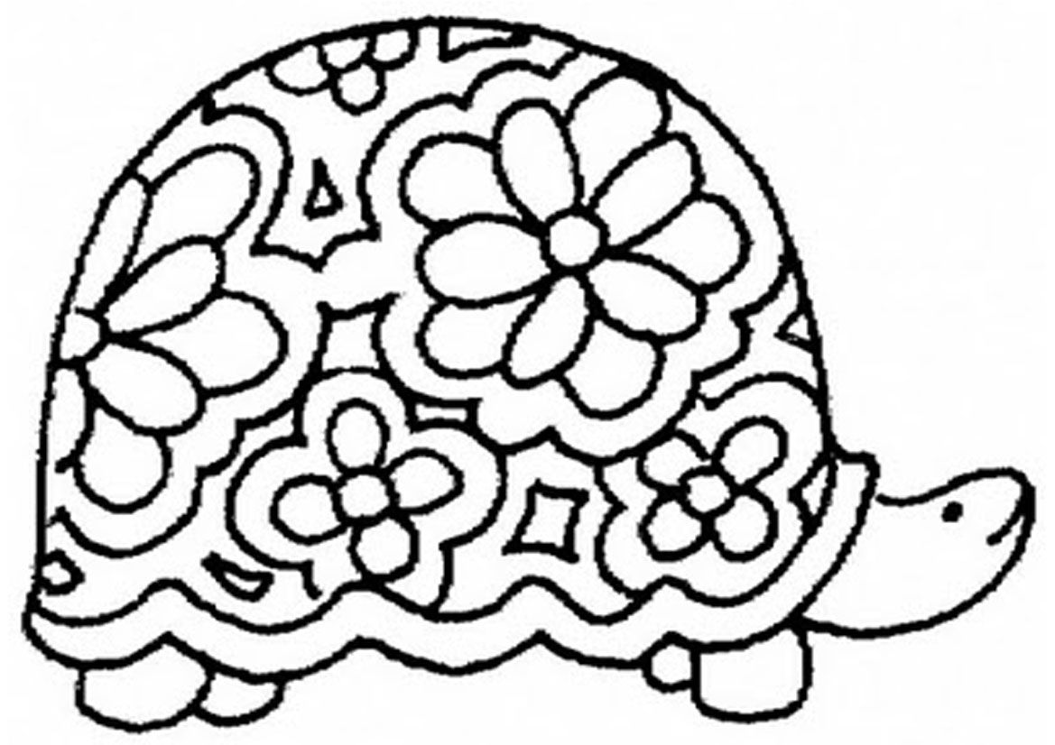Free coloring pages of how to draw a turtle coloring pages