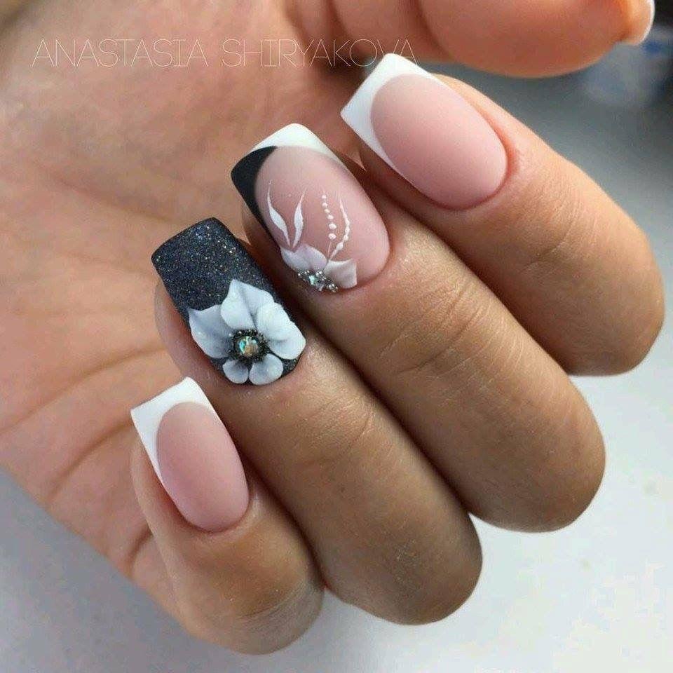 Black and White nails | Nail Art | Pinterest | White nails, Manicure ...