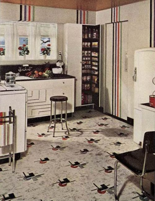 21 Early 1940s Interior Designs By Hazel Del Brown Of Armstrong Floors