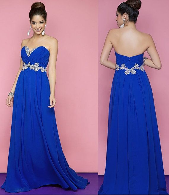 Custom make Sweetheart backless royal Blue by Lemonweddingdress ...