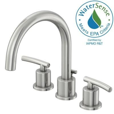 Delicieux Glacier Bay Dorset 8 In. Widespread 2 Handle Bathroom Faucet In Brushed  Nickel And Ceramic Disc Cartridge With Pop Up Assembly FW0C4100BNV   The  Home Depot