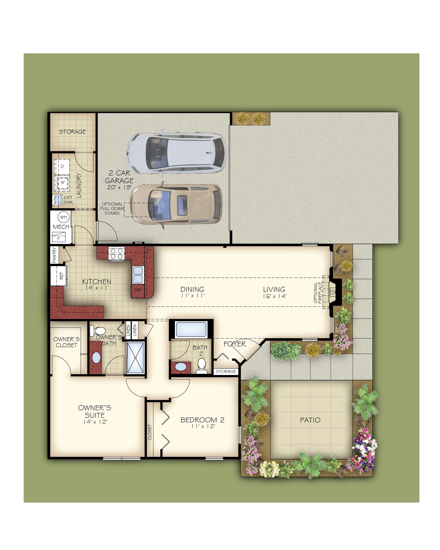 The Villa Floor Plan