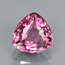 Natural Gem 1.01ct 6.5x6mm Trillion BEAUTIFUL COLOR Pink TOURMALINE, MOZAMBIQUE