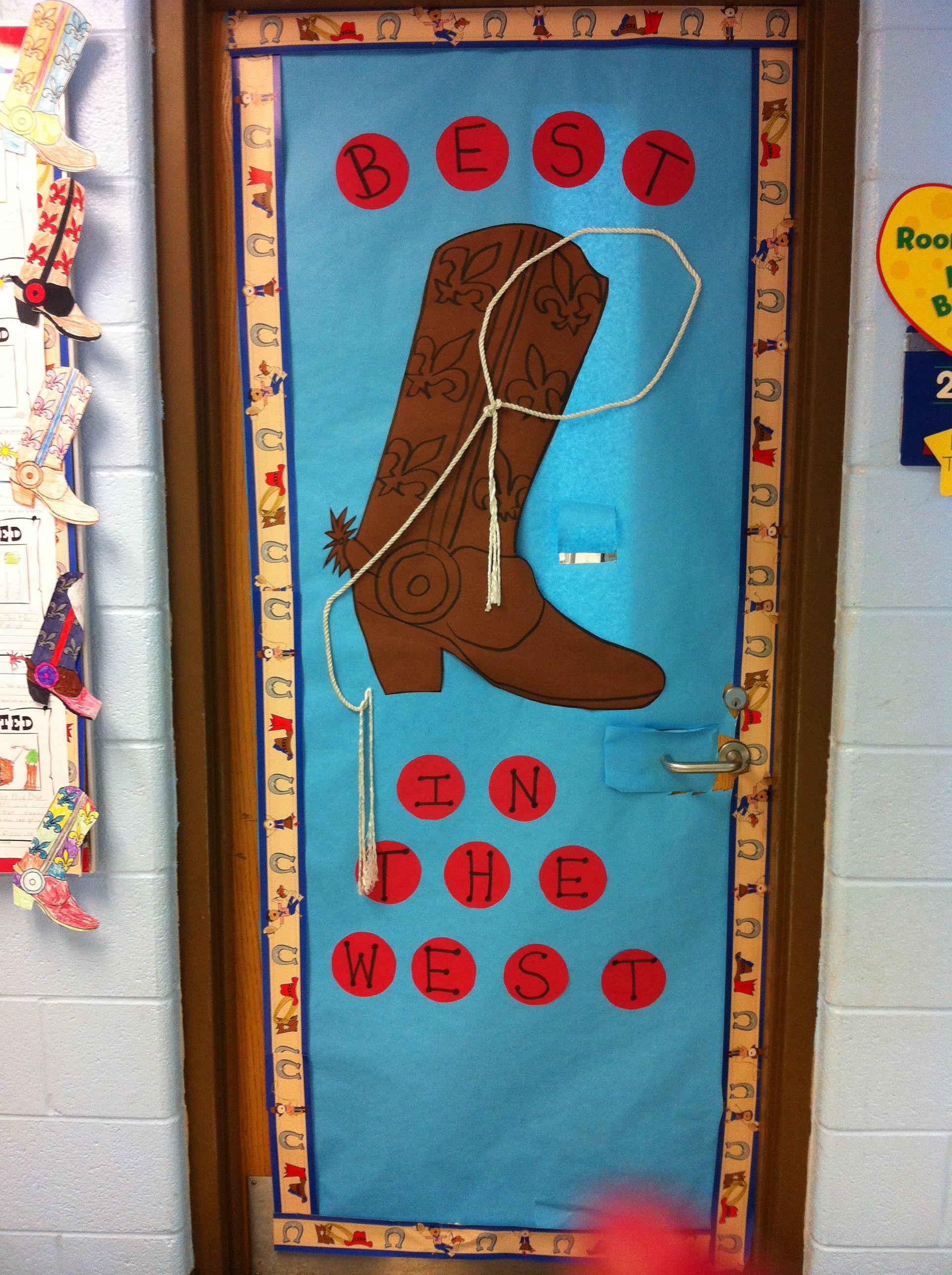 Western theme door decoration | educational | Pinterest ...