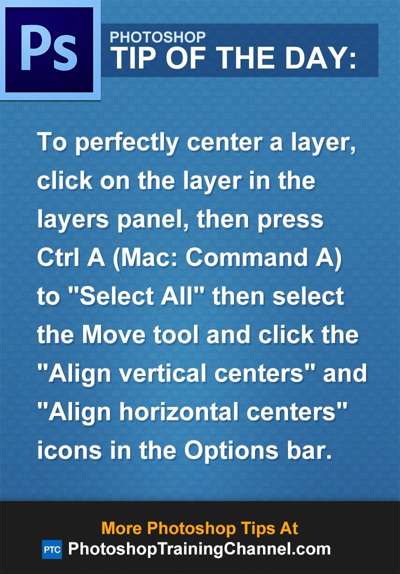 How to center layers in photoshop