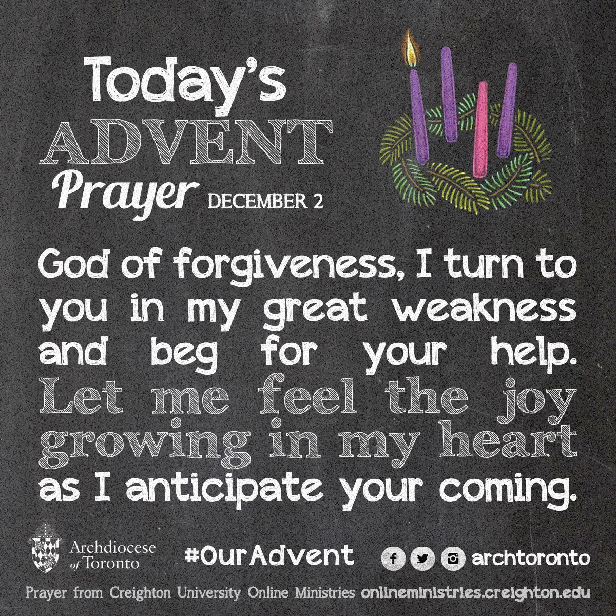 Prayer for the First Week of Advent - Tuesday #ouradvent