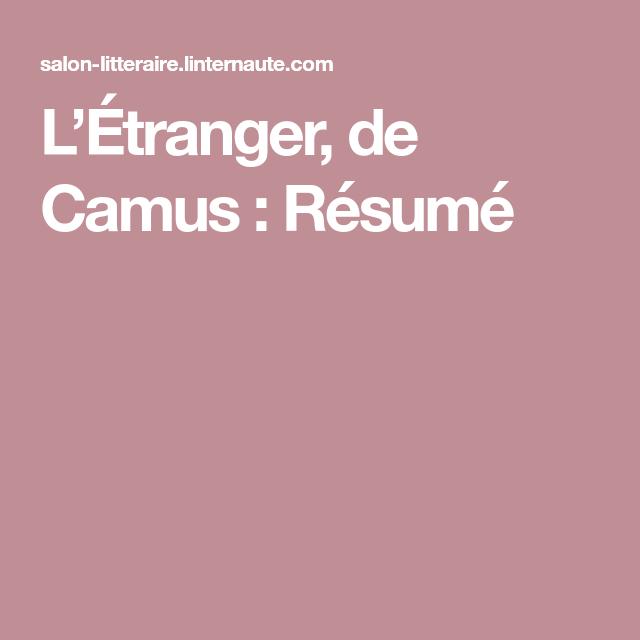 L\'Étranger, de Camus : Résumé