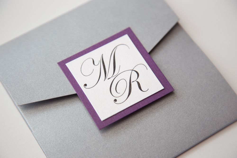 purple and grey wedding invitations - Google Search | My Wedding ...