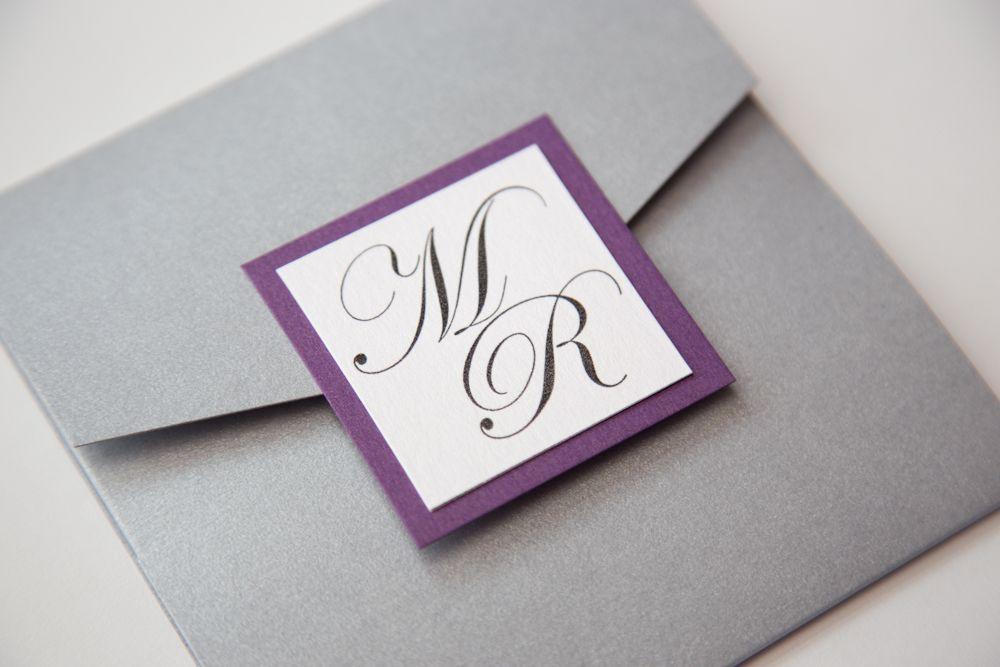 purple and grey wedding invitations - Google Search | My Wedding ...
