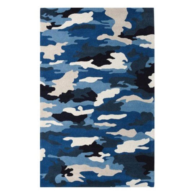 Best Dynamic Rugs Fantasia Camouflage 1709 Area Rug Blue 400 x 300