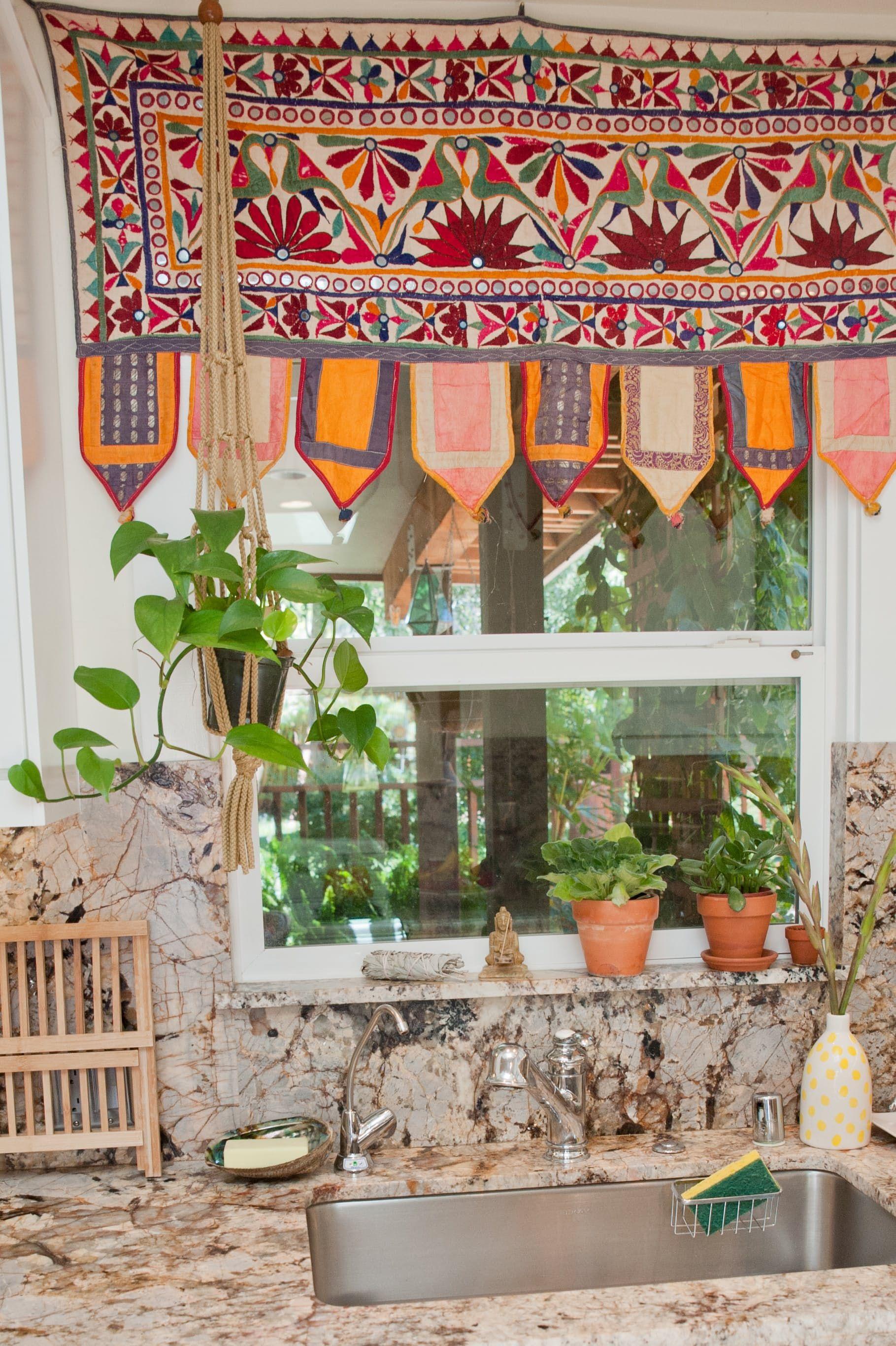 a cheery patterned oasis in california hippie home decor minimalist kitchen design hippie on kitchen decor hippie id=42334