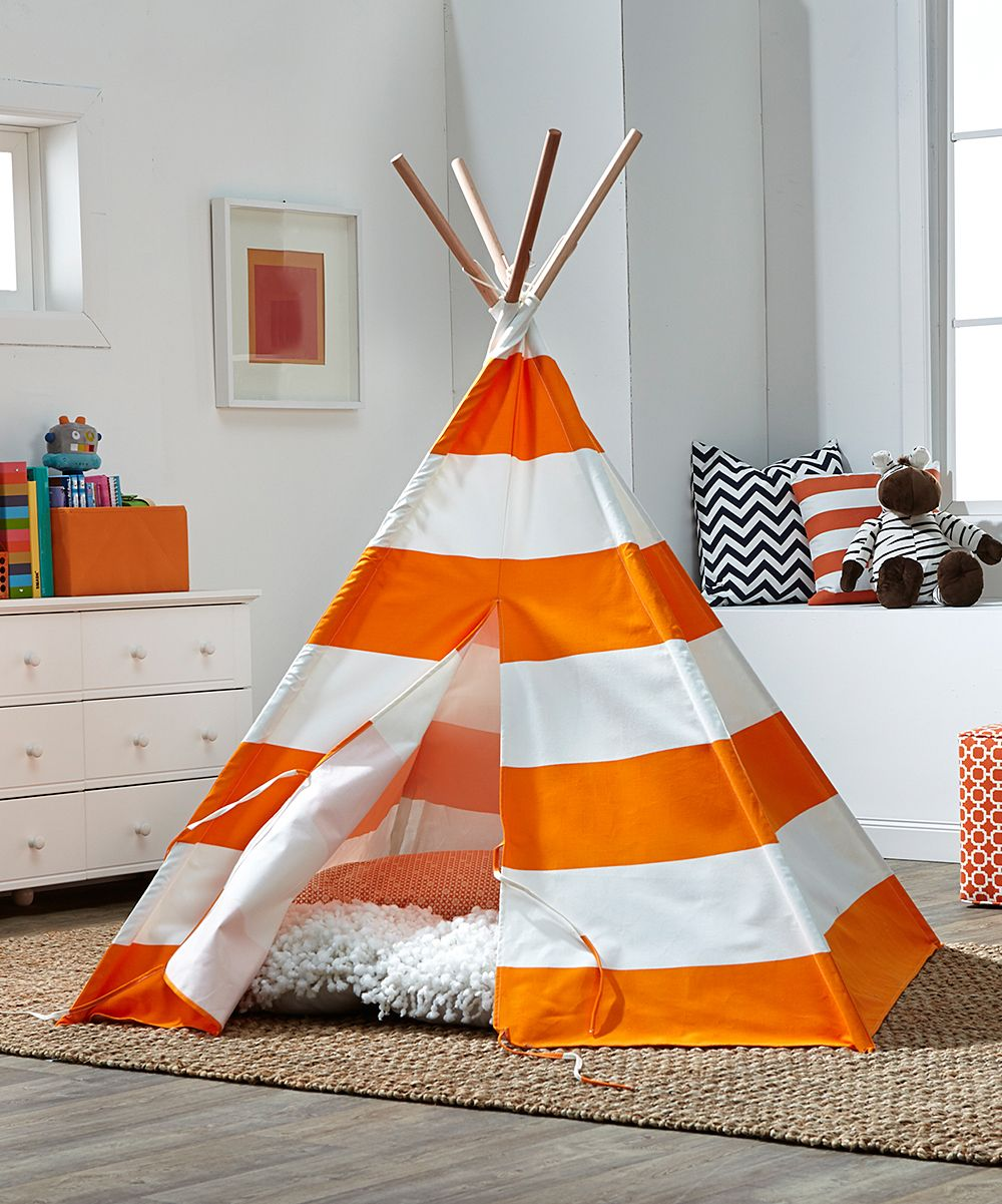 Merry Products Orange Stripe Childrens Tent Zulily