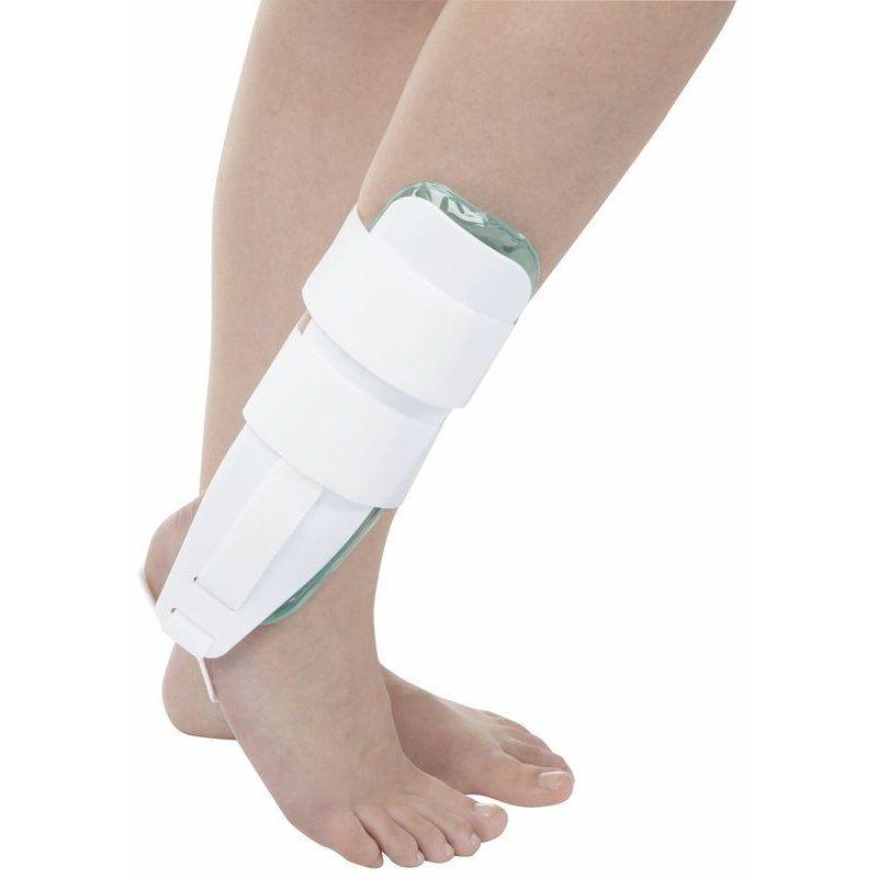 Die Air/Gel-Schiene ist eine Orthese mit umfangreicher Anwendungsbreite zur Unterstützung der funktionellen Nach- und Dauerbehandlung orthopädischer Sprunggelenksinsuffizienz.Für links und rechts geeignet.