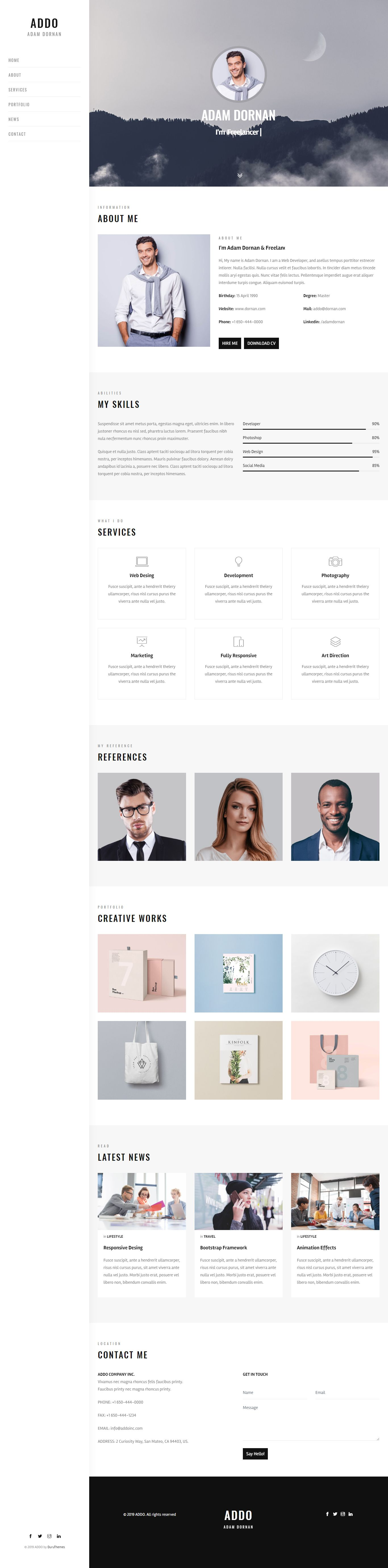 20++ Personal resume website template inspirations