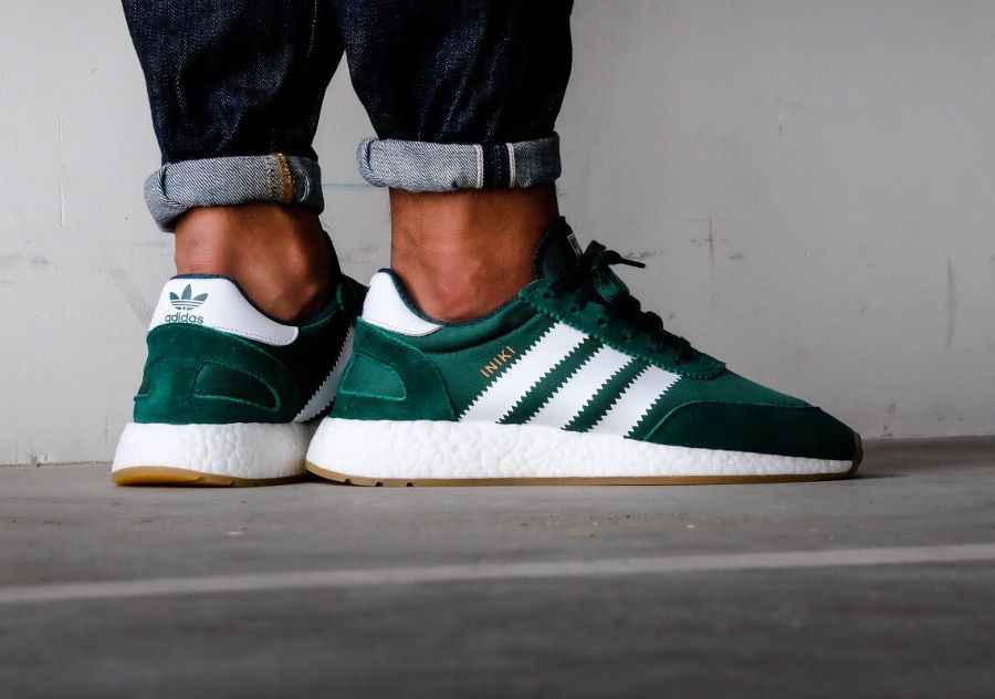 Adidas Iniki Runner Boost Verte Collegiate Green (2017 ...