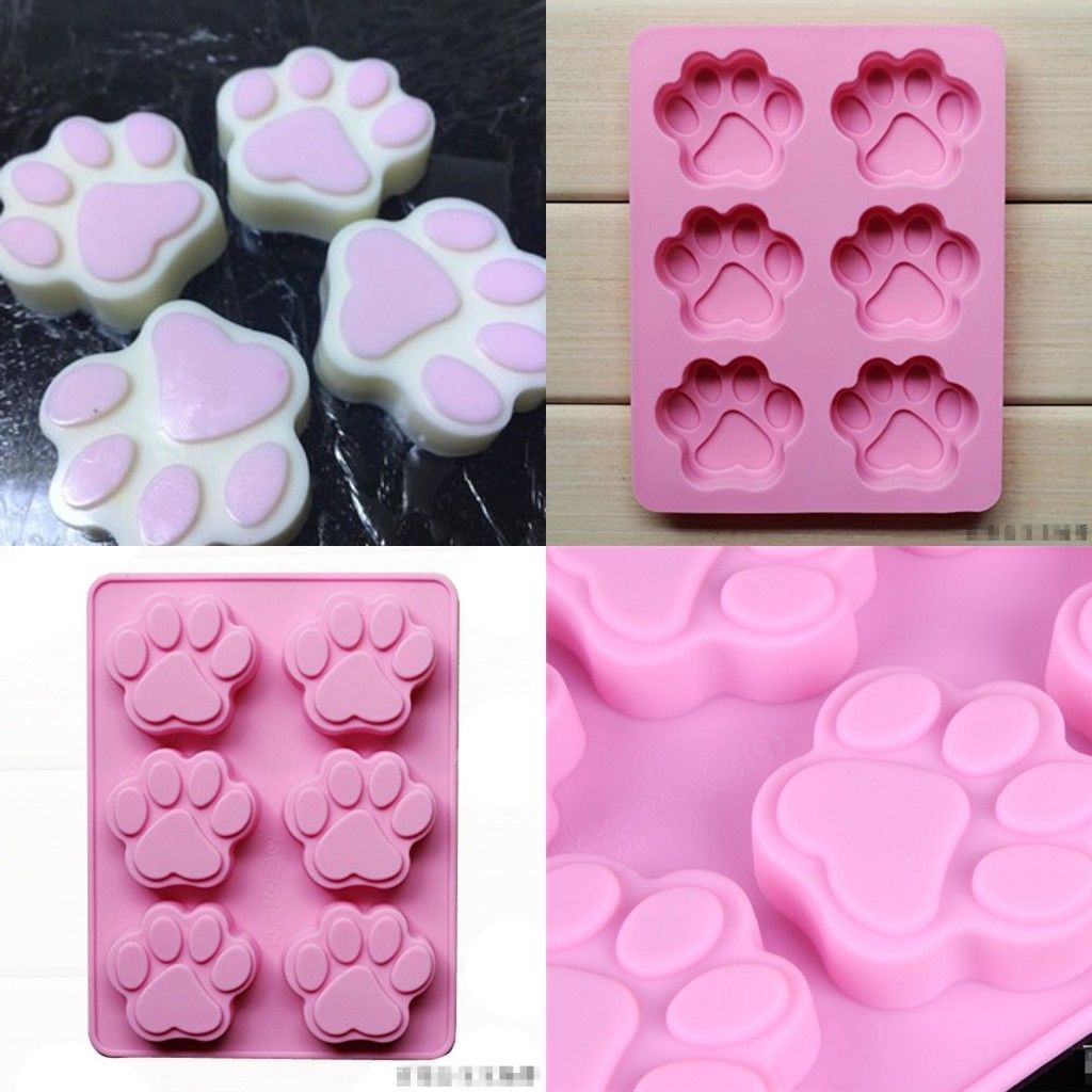 Details about Cat Dog Paw Shape Silicone Bakeware Mold