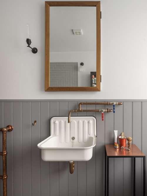 Bagno in stile industriale - Lavabo vintage Spaces